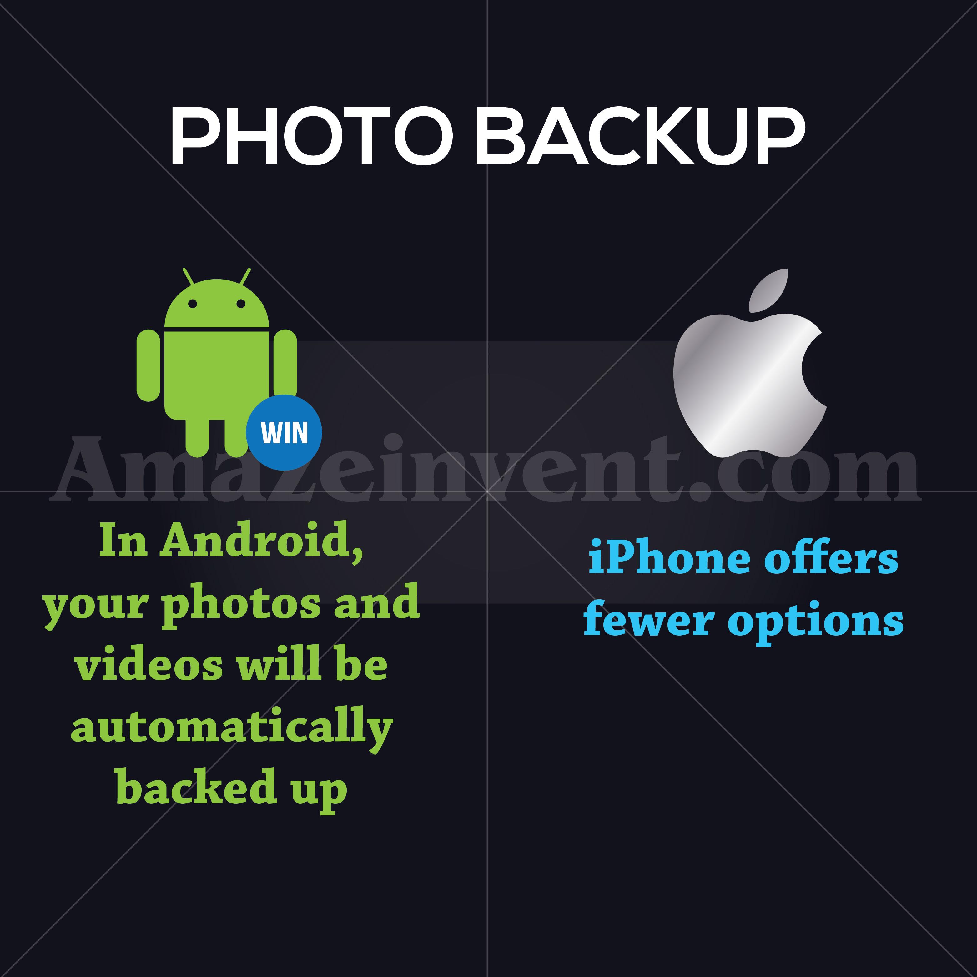 android vs ios photo backup