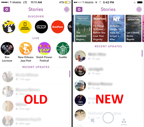 Get familiar with the new Snapchat interface
