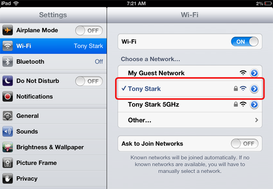 Check Your iPad's Wi-Fi Connection