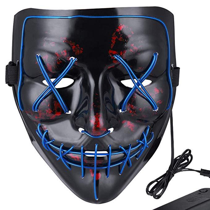 Halloween LED Purge Mask Light