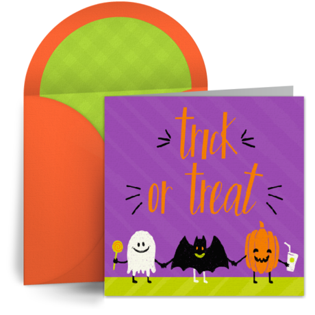 Halloween Trick-or-Treaters by Punchbowl