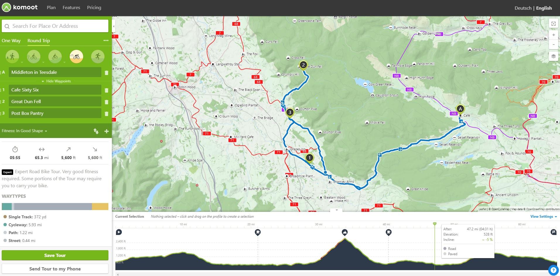 Hiking Plan Routes