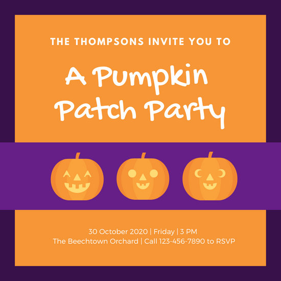 Pumpkin Carving Party Invite from Canva