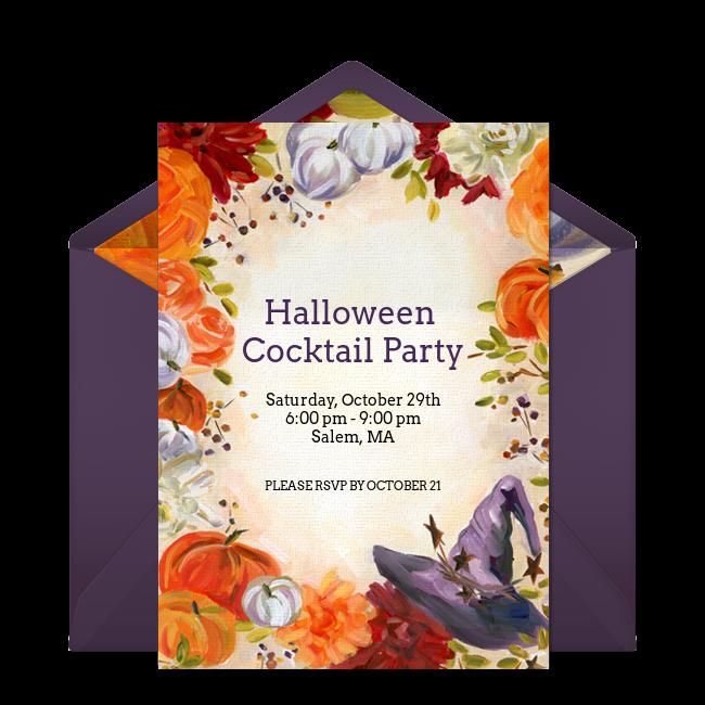Pumpkin Online Halloween Invitation from Punchbowl