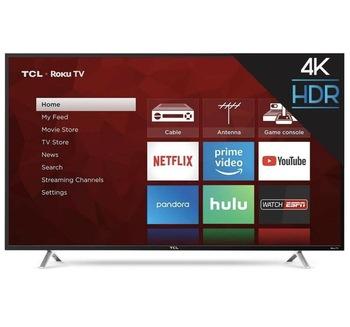 TCL 55R617 55-inch 4K Ultra HD Roku