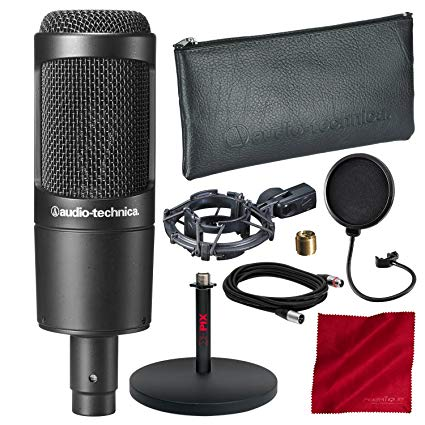 Sound Technica AT2035 Large Diaphragm Studio Condenser Microphone
