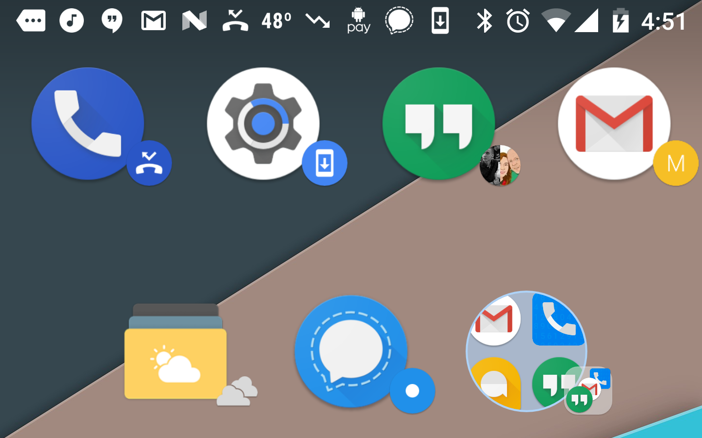 App badges nova launcher