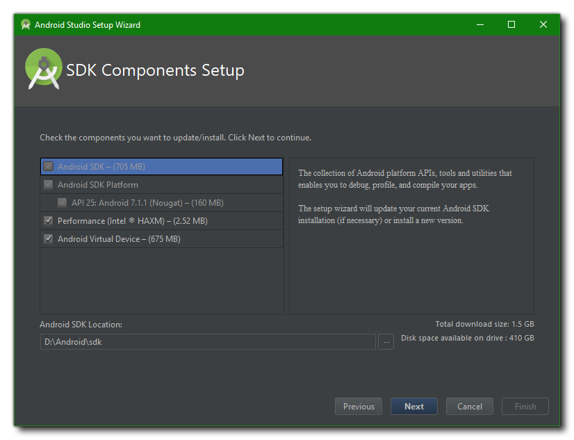 Install the Android SDK