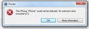setup failed 6753 iphone 11
