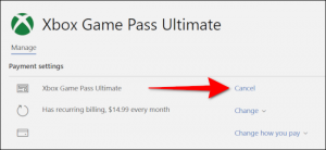 Cancel Game Pass