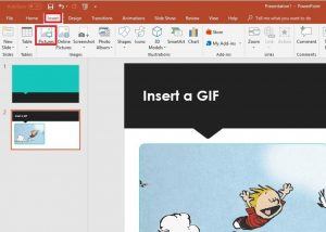 Insert GIF Into PowerPoint
