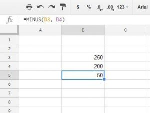 Subtract In Google Sheets