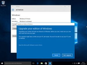 Upgrade from Windows 10 Home to Pro