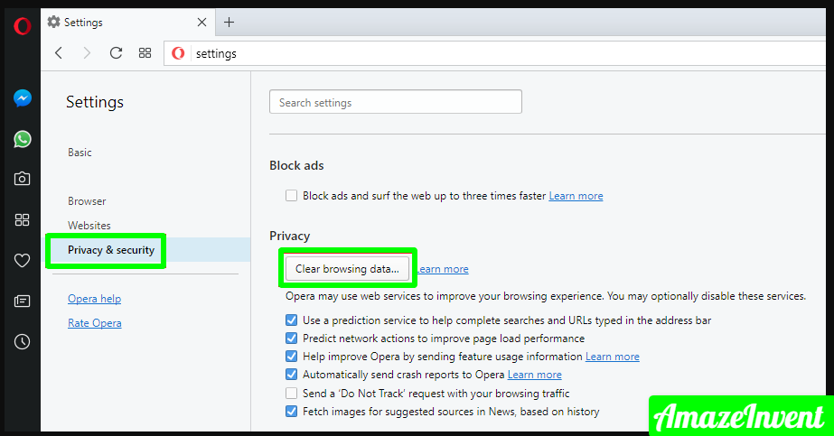 Clear Cache on Browsers