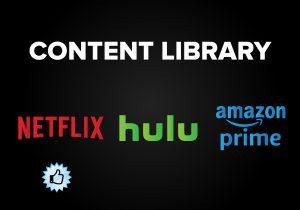 Content Library - Netflix vs. Hulu vs. Amazon