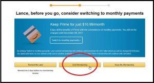 Cancel Amazon Prime
