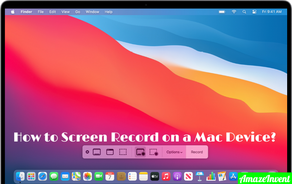 Screen Record on a Mac Device
