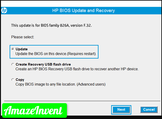 update your PC's BIOS