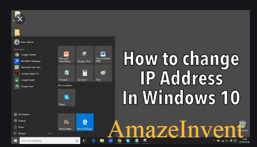 change the IP address of a PC