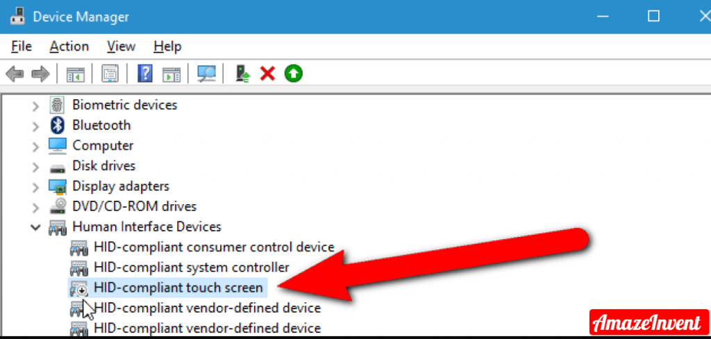 disable your touchscreen in Windows 10