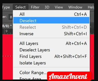 Deselect in Photoshop