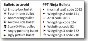 Type A Bullet Point
