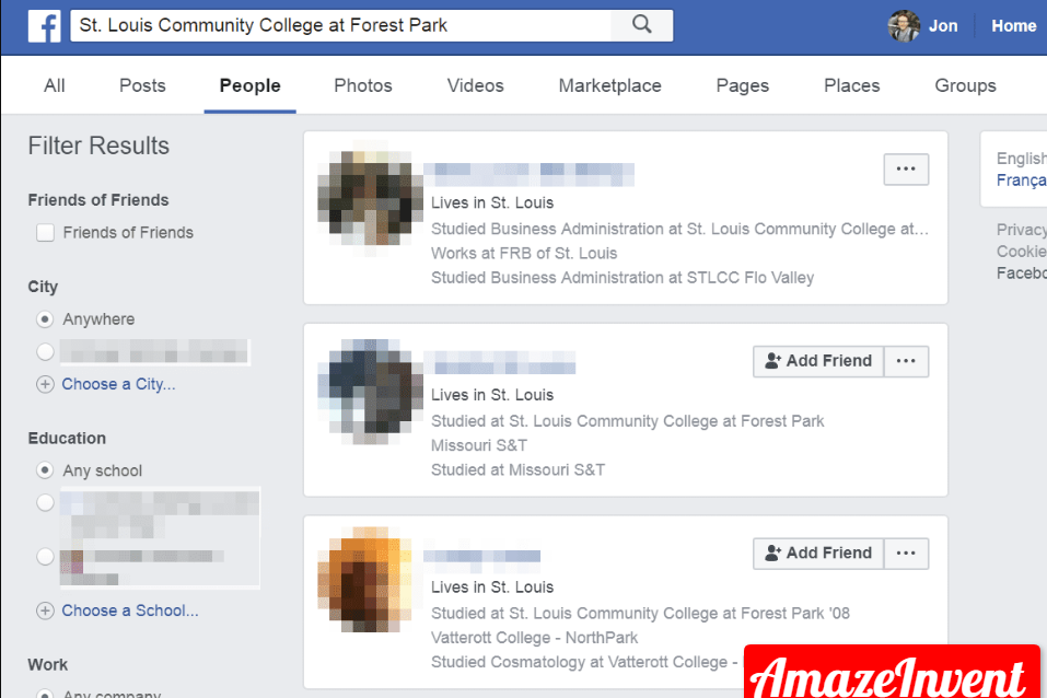 Advanced Search on Facebook