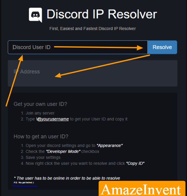 find Someone IP in Discord