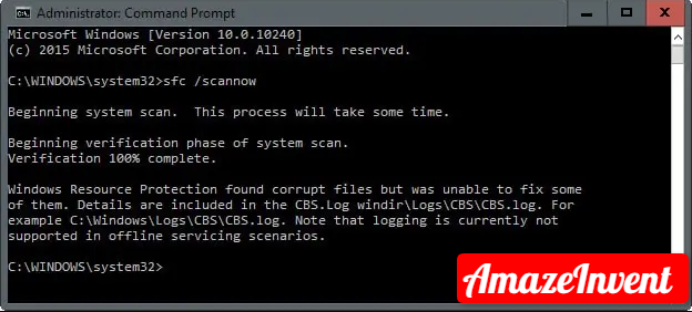 Scan Windows 10 Files with SFC/SCANNOW?