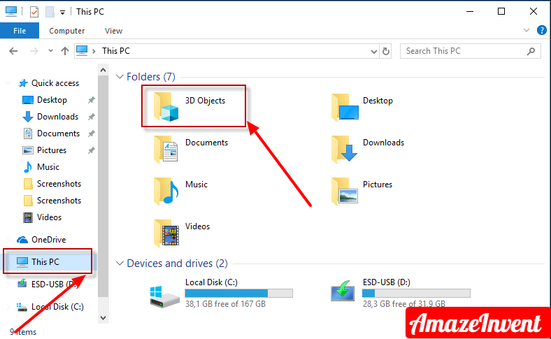 """Remove """"3D Objects"""" from This PC"""