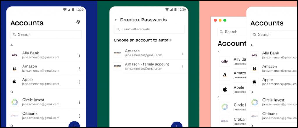 Dropbox Password Manager