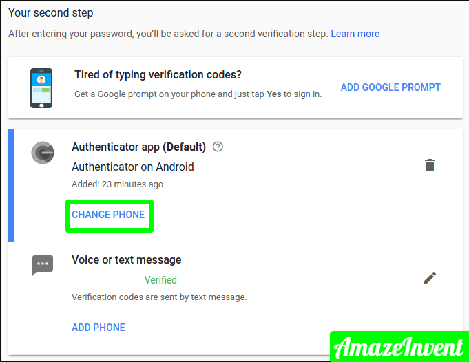 Recover Google authenticator codes