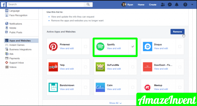 disconnect spotify from facebook account