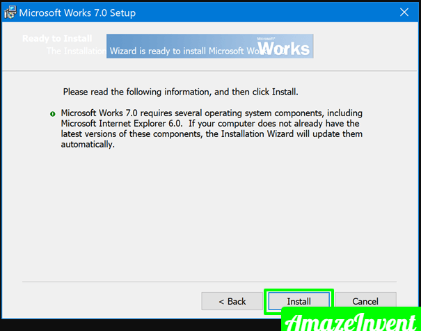 Install & Run Microsoft Works on Windows 10