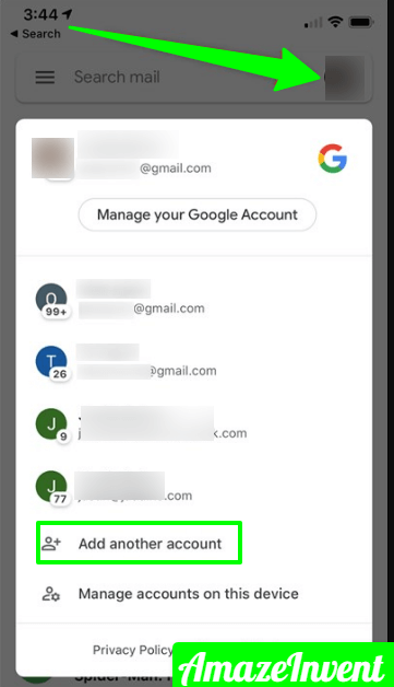 Switch Accounts on Google