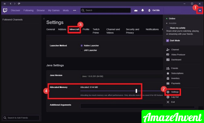 Allocate More Ram To Minecraft Twitch