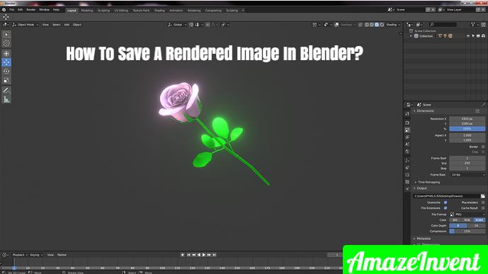save a rendered image in Blender