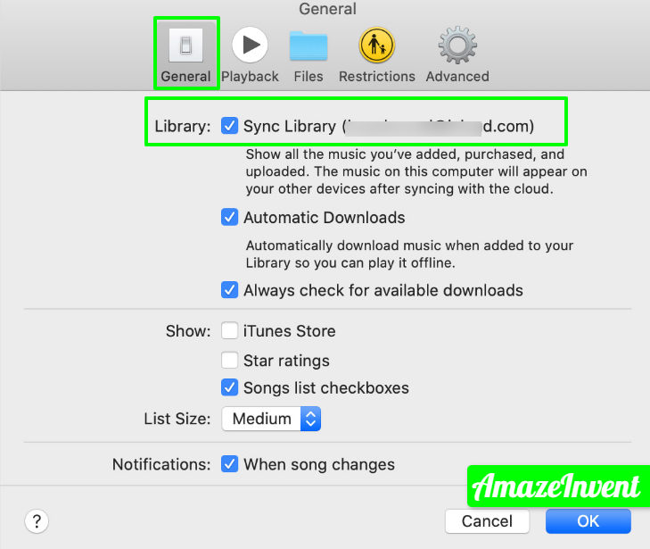 macos catalina music preferences general sync library jpg 1066×914  - How To Turn Off iCloud Music Library?