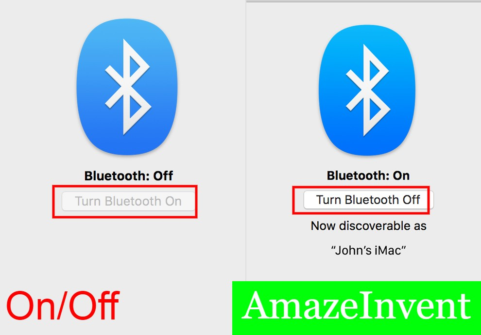 Bluetooth On and Off