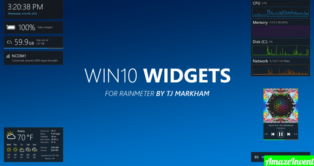 Add Widgets To Windows 10 Desktop