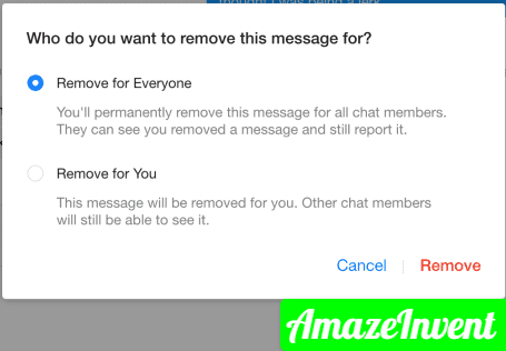 remove for everyone