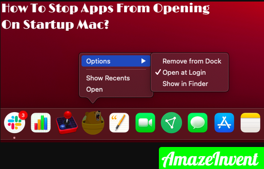 Stop Apps From Opening On Startup Mac