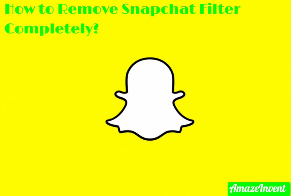 Remove Snapchat Filter