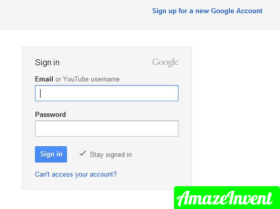 Log into your account