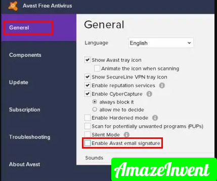 Remove Avast's Signature from Gmail