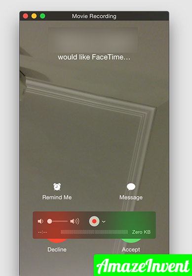 Record FaceTime Call on iPhone