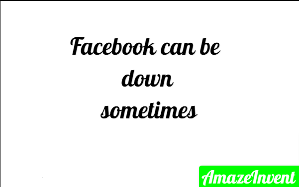 Facebook Error: Sorry This Content Isn't Available Right Now