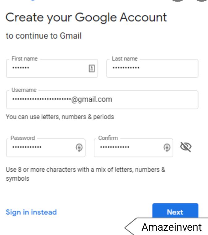 Create a new Google account